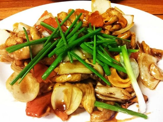 Kao Tom Por Peang :                   Stir fried chicken with cashew nuts ^_^
