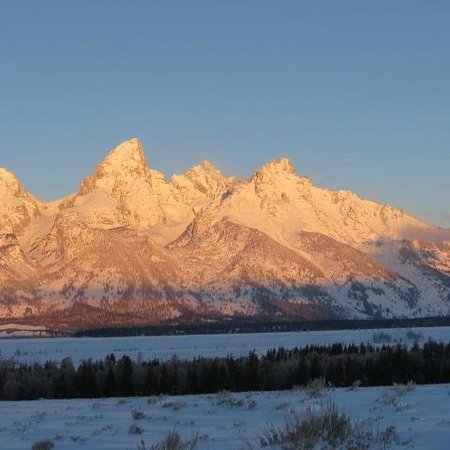 Elk Country Inn:                   Grand Teton Mt. at Sunrise
