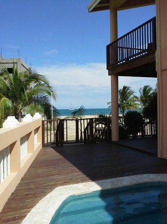 Mirasol Beach Apartment:                   A view from the pool.