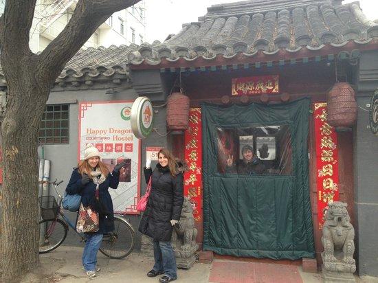 Happy Dragon Courtyard Hostel :                   Outside of Hostel