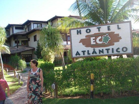 Hotel Eco Atlântico:                   vista paradisíaca da parte externa do hotel.