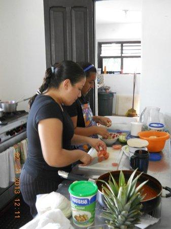 La Antigua:                   YENI, showed off her culinary institute training.
