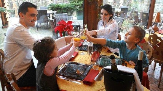 Hotel Restaurant les Pins : Notre véranda