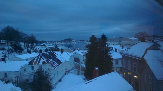 Scandic Grimstad:                                     View from our room