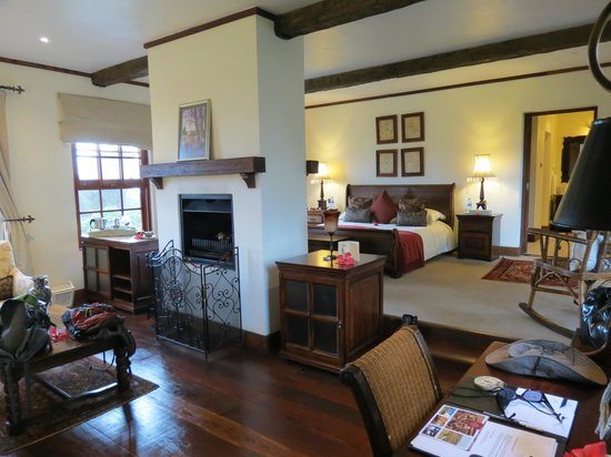 The Manor at Ngorongoro:                   Size of a suite bedroom and living area