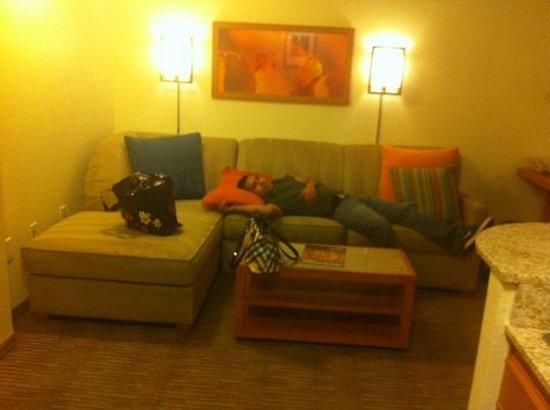 HYATT house Austin / Arboretum:                   Comfortable sofa