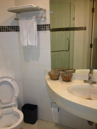 Shanghai City Central Youth hostel:                                     Private bathroom