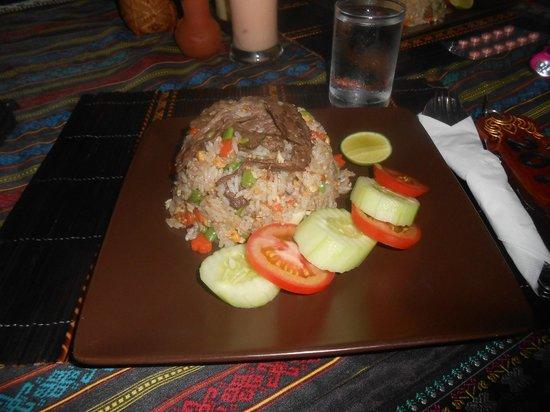 Thongbay Guesthouse:                   Diner à l'hôtel