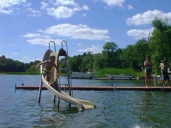 Sunny Point Resort, Cottages & Inn:                   waterslide