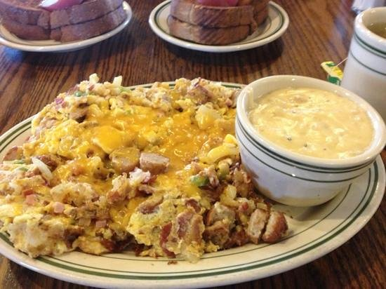 Cottage Cafe :                                     The scramble