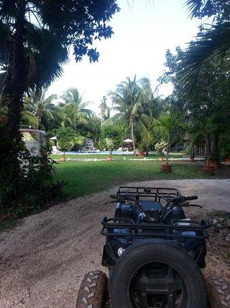 Ecoparque Cuzam:                                     Just before ATV ride