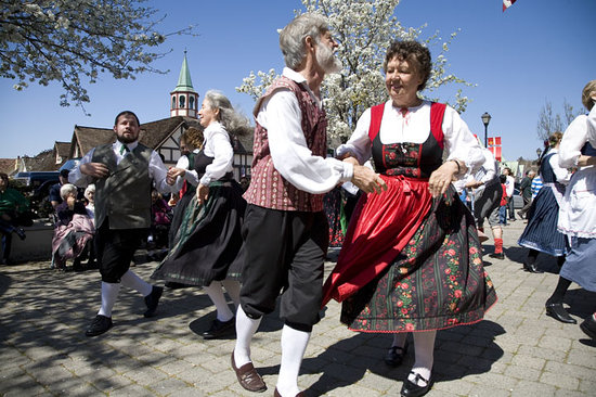 Danish Dancers in Solvang, CA