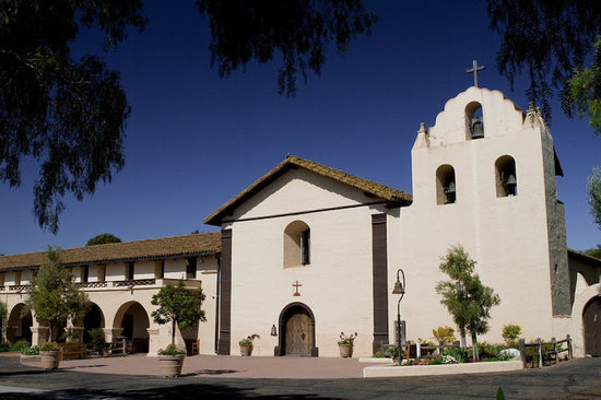 Old Mission Santa Ines in Solvang, CA - Picture of Solvang ...