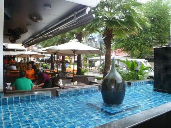 Adelphi Suites Bangkok:                   Monsoon Restaurant - great place to relax and watch the world go by!