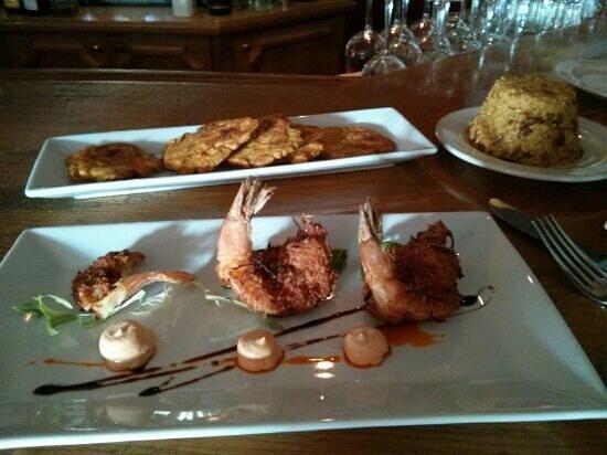 Morena:                   Coconut and sweet potato-encrusted shrimp