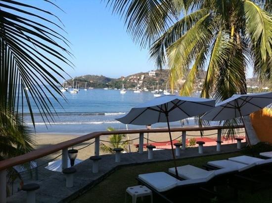 Villas Miramar:                   View from hotel grounds, ocean side