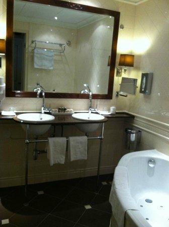 Hotel Estherea:                   deluxe room vanity