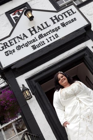 Gretna Hall:                                     Leaving for the Wedding.