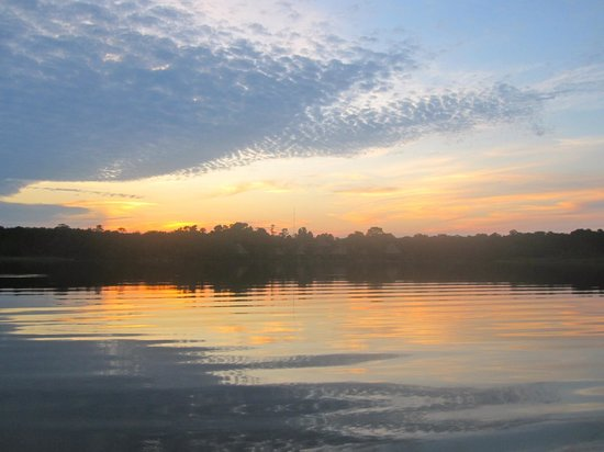Napo Wildlife Centre:                   Beautiful sunrise on the lake