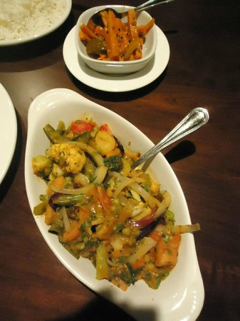 Royal Indian Restaurant, Vegetarian Sarson and carrot pickle