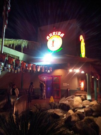 Arriba Mexican Grill:                   View of restaurant at night - looks like nice outdoor seating too
