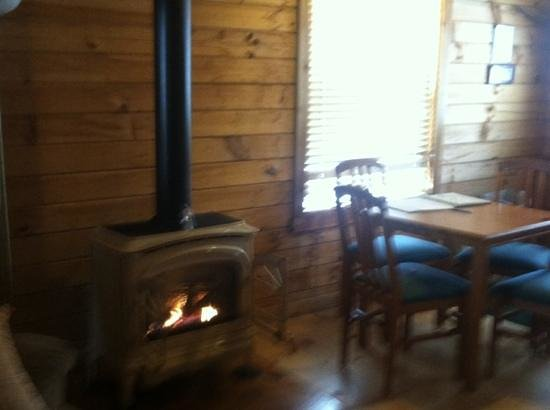 Hope Cabins and Banquet, LLC:                                     fireplace - Joy Cabin