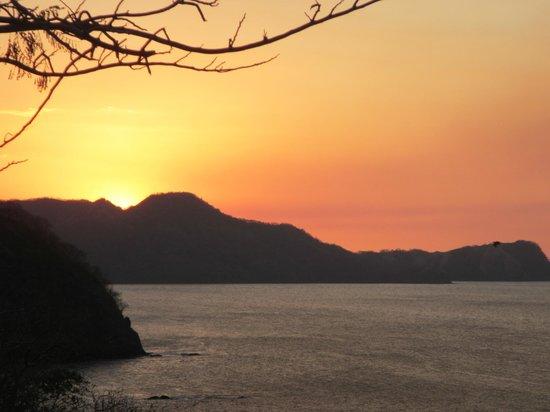 Roca Bruja:                   Sunset from restaurant