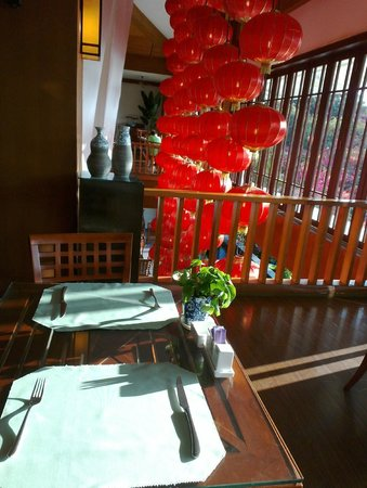Guesthouse International Hotel:                   Restaurant for buffet breakfast