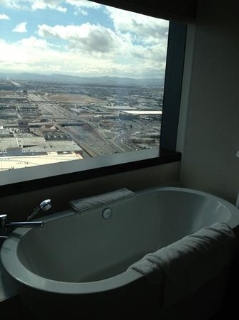 Vdara Hotel & Spa:                   View from the bathtub