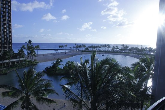 Hilton Grand Vacations at Hilton Hawaiian Village:                                     View from 5th Floor