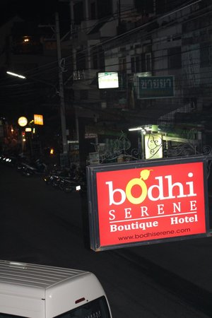 Bodhi Serene Hotel:                                     from pool area looking down to street