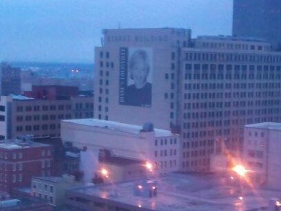 Louisville Marriott Downtown:                   looking out our window in the hotel                 
