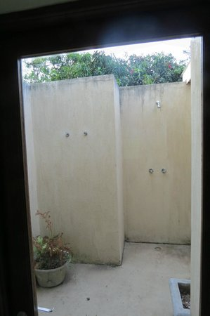 Perry's Bridge Hollow:                                     Outdoor shower off bathroom
