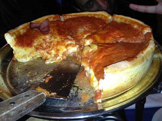 Chicago Style Pizza Shack:                   Hawaiian style deep dish
