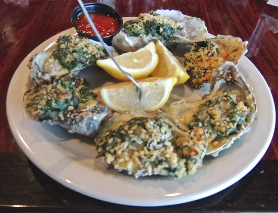 Saltwater Grill:                   Oysters Rockefeller
