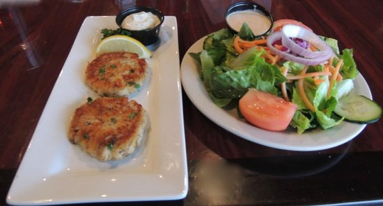 Saltwater Grill:                   Crab Cakes & Salad