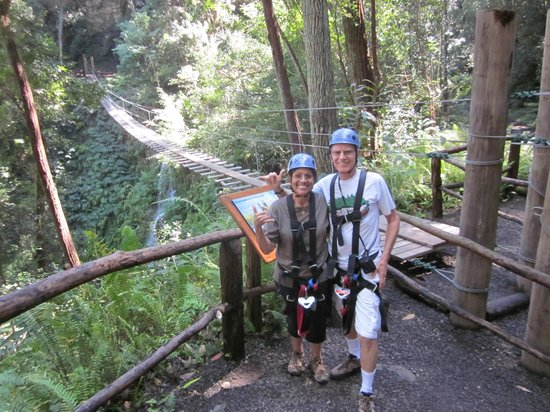 Big Island Eco Adventures II Zipline Canopy Tour:                                     My bride and I
