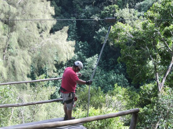 Big Island Eco Adventures II Zipline Canopy Tour:                                     Our guide