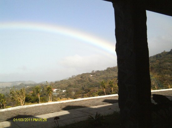 Heliconia Hotel:                   Rainbow. We felt we could almost touch it.