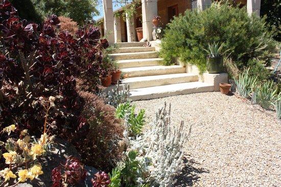 Corinium Roman Villa: Steps up to the front pillars