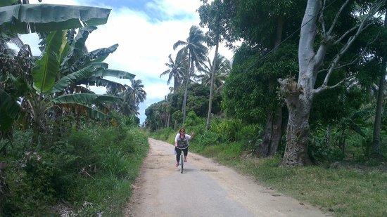 Matafonua Lodge:                                     on our way home from church