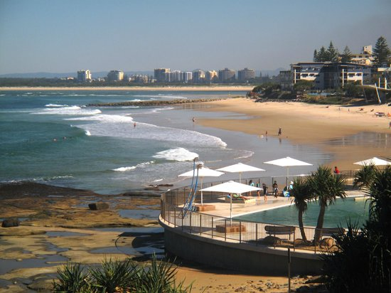 Caloundra, Australie :                   Kings Beach,Sea Pool & Rock Pools