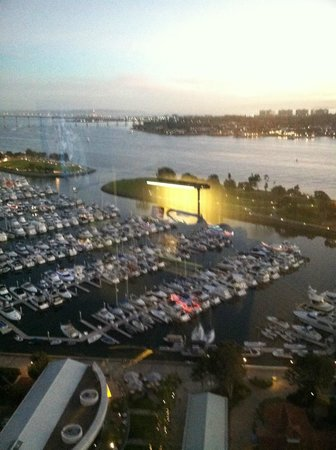 Manchester Grand Hyatt San Diego:                   marina and bay sunset