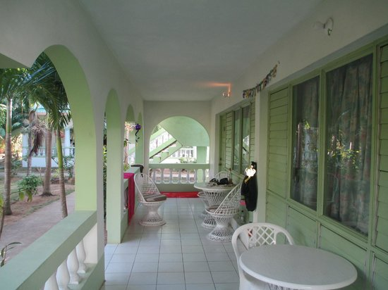 Hidden Paradise Resort Hotel:                   Our patio at Hidden Paradise