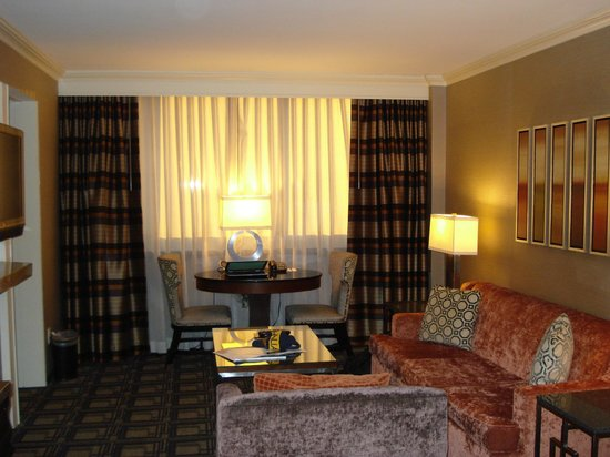 Sheraton New York Times Square Hotel:                   Living room in the suite