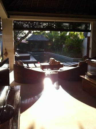 Chandra Luxury Villas Bali:                   最喜歡這種開放的空間