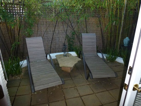 The Cottage Inn & Spa:                   Our patio                 