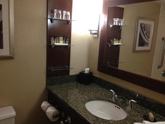Melville Marriott Long Island:                   shelf in bathroom is nice