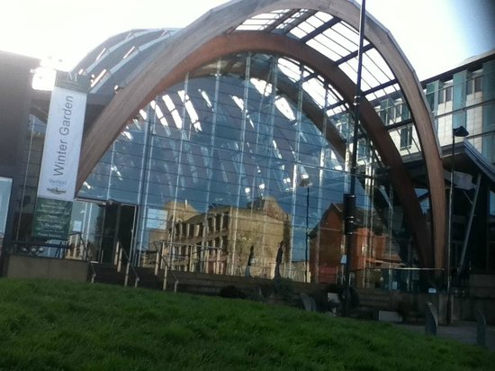 Sheffield Winter Garden:                   main enterance...