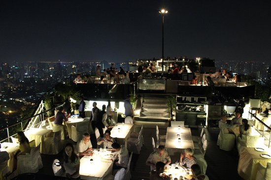 Banyan Tree Bangkok:                                     Vertigo bar/restaurant